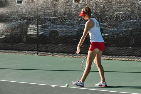 Austin Peay Women's Tennis freshman Fabienne Schmidt leds Govs at Intercollegiate Tennis Association Ohio Valley Regionals. (APSU Sports Information)