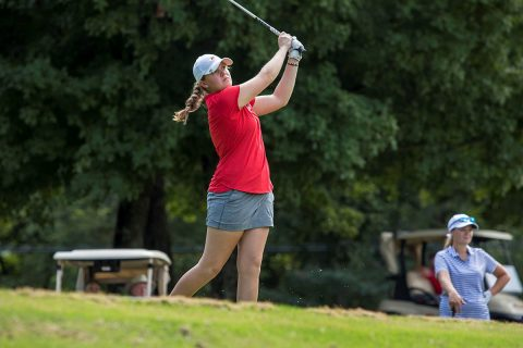 Austin Peay Women's Golf freshman Taylor Dedmen shots a final round 75 for a top 10 finish at F&M Bank APSU Intercollegiate. (APSU Sports Information)
