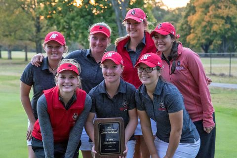 Austin Peay Women's Golf holds off Tennessee Tech by two shots to win 2018 Town and Country Invitational for the second year in a row. (APSU Sports Information)