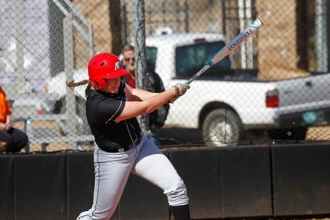 Austin Peay Softball junior Danielle Liermann goes 3-3 in Black Team's 7-1 win against the Red Team in Game 1 of Fall World Series. (APSU Sports Information)