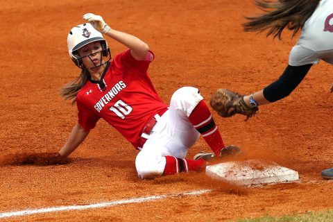 Austin Peay Women's Softball junior Natalie Schilling had four hits Friday in win over Shawnee Community College. (APSU Sports Information)