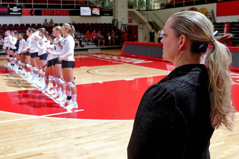 Austin Peay Women's Volleyball is currently tied for first place in the OVC. APSU hosts Eastern Illinois, Friday and SIU Edwardsville, Saturday at the Dunn Center. (APSU Sports Information)