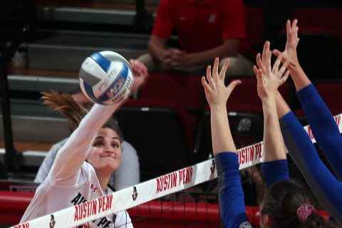 Austin Peay Women's Volleyball senior Cecily Gable had a career high 24 kills against SIU Edwardsville Saturday at the Dunn Center. (APSU Sports Information)