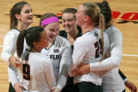 First place Austin Peay Women's Volleyball head to Nashville this weekend to take on Belmont and Tennessee State. (APSU Sports Information)