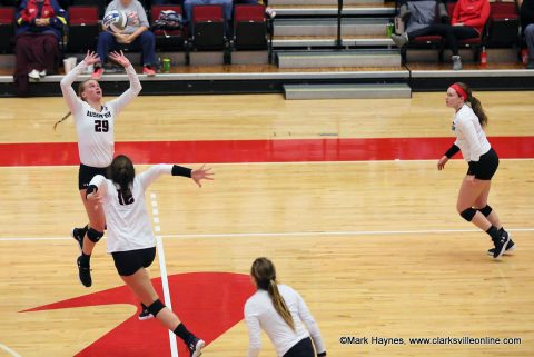 Austin Peay Women's Volleyball takes down Tennessee State in four sets at Kean Hall, Saturday. (APSU Sports Information)