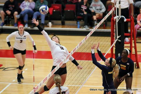 Austin Peay Women's Volleyball hosts Western Kentucky Tuesday night at the Dunn Center.