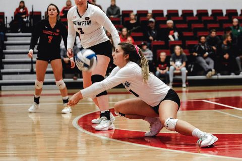 Austin Peay Women's Volleyball defeated UT Martin in straight sets at the Dunn Center Friday night. (APSU Sports Information)