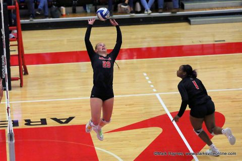 Austin Peay Volleyball senior setter Kristen Stucker had 40 assists, 5 digs, 3 kills and 2 blocks in win over Southeast Missouri Saturday afternoon at the Dunn Center.