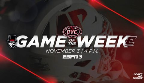 "Austin Peay Football to be featured on OVC ""Game of the Week"" against Eastern Kentucky on Saturday, November 3rd. (APSU Sports Information)"