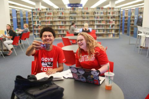 APSU freshman students Derek Nicholson and Janesa Wine of Dickson County will document their freshman year at Austin Peay through IG TV videos and occasional stories.