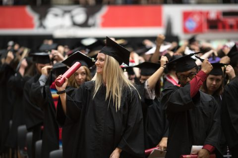 APSU Students celebrate during a recent commencement ceremony at Austin Peay State University.