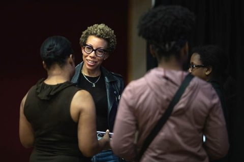 Amy Sherald speaks at Austin Peay State University.