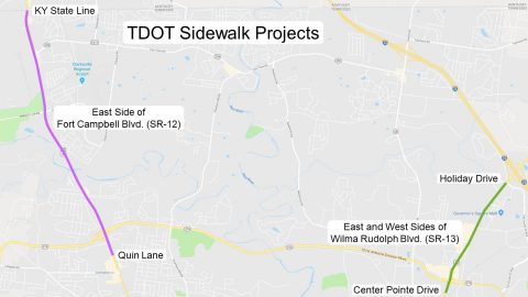 Tennessee Department of Transportation plans work along Wilma Rudolph Boulevard and Fort Campbell Boulevard.