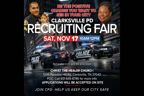 Clarksville Police Department Recruiting Fair set for November 17th.