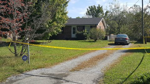 House at 510 Bellamy Lane where the deceased was located by Clarksville Police.