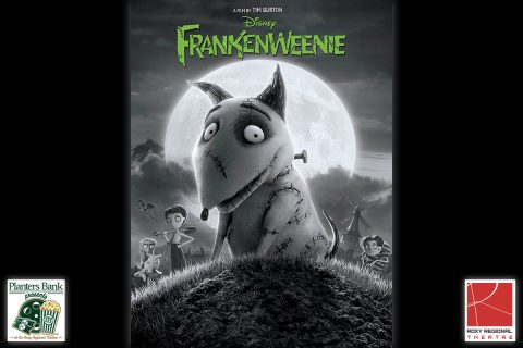 "The film ""Frankenweenie"" to play this Sunday at the Roxy Regional Theatre as part of the Planters Bank Presents ... film series."