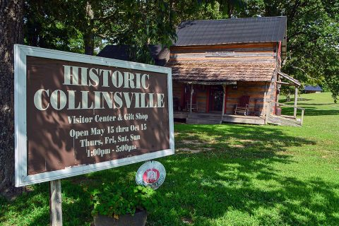 Historic Collinsville's Visitor Center welcomes and introduces guests to a by-gone era. (Terry Minton)