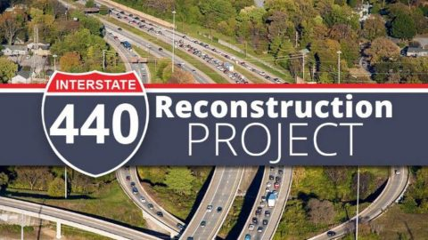Drivers should plan for delays on and around the 440 corridor through August 2020.