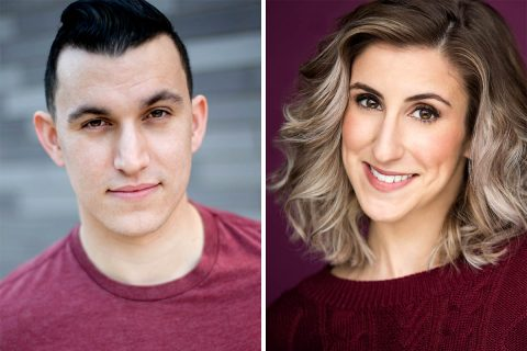"Sean P. Kincaid and Jessica Caracciolo star as Brad and Janet in Richard O'Brien's ""The Rocky Horror Show"" at the Roxy Regional Theatre, October 19th - October 27th"
