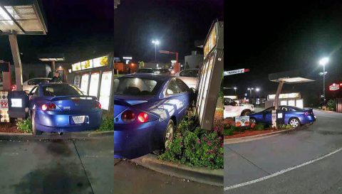 Thursday night, a Mercury C6S crashed into the Wendy's Drive-Thru located on Wilma Rudolph Boulevard.