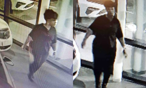 Clarksville Police are trying to identify the women in these photos for crashing into a Car Dealership October 13th.