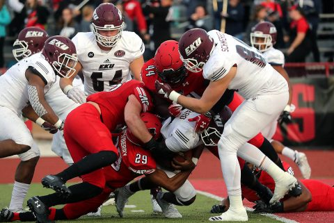 Austin Peay Football upended by late Eastern Kentucky touchdown in 17-13 loss at Fortera Stadium, Saturday. (APSU Sports Information)