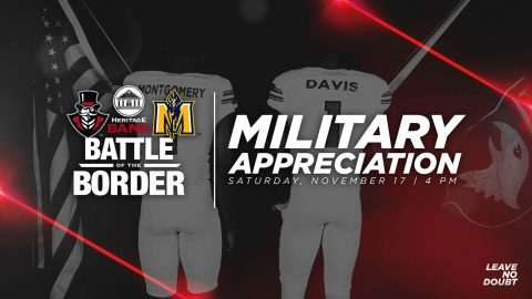 Austin Peay Football plays Murray State in Heritage Bank Battle of the Border Saturday at Fortera Stadium. Saturday is Military Appreciation Day and Senior Day. (APSU Sports Information)