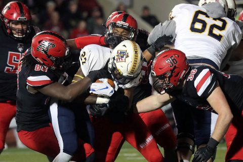 Austin Peay Football defeated Murray State 48-23 during Ohio Valley Conference action Saturday at Fortera. (Robert Smith, APSU Sports Information)
