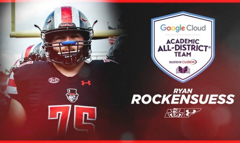 APSU Football senior offensive lineman Ryan Rockensuess named to the Google Cloud Academic All-District® Football Team for District 3. (APSU Sports Information)