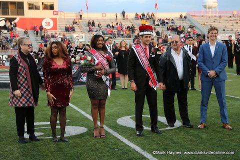 LaQuandra McGhee was crowned Austin Peay State University Homecoming Queen and Jake Bumpus was crowned King Saturday at the APSU Football game against Tennessee Tech.