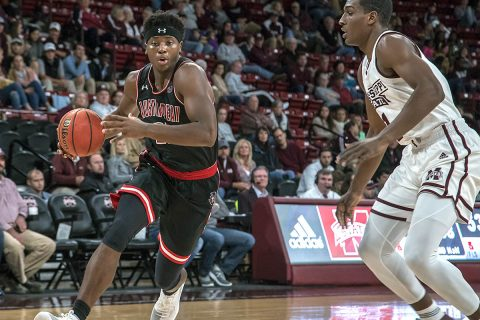Austin Peay Men's Basketball play tough in loss to Mississippi State Friday night. (APSU Sports Information)