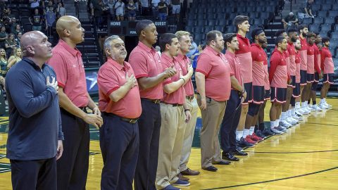 Austin Peay Men's Basketball loses hard fought game to USF Monday night. (APSU Sports Information)