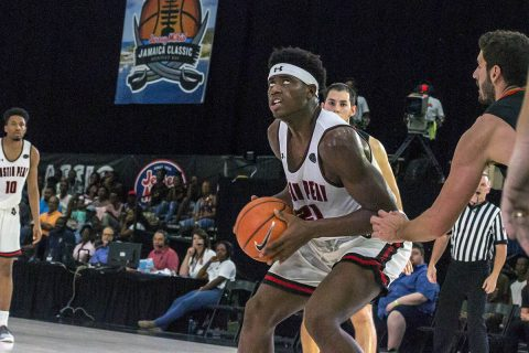 Austin Peay Men's Basketball loses Sunday afternoon to Campbell at Jersey Mike's Jamaica Classic. (APSU Sports Information)