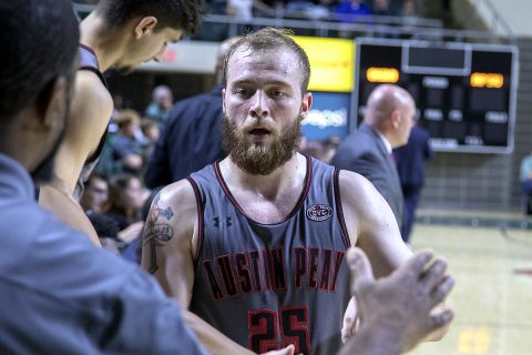 Austin Peay Men's Basketball senior point guard Zach Glotta hit five three-pointers in loss to Ohio, Saturday. (APSU Sports Information)