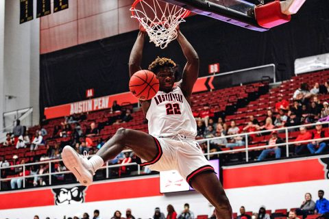 Austin Peay Men's Basketball dominates Oakland City at the Dunn Center Tuesday night. (APSU Sports Information)