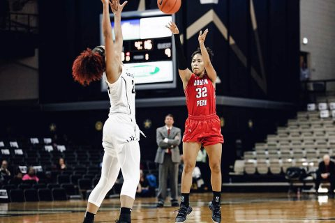 Austin Peay Women's Basketball Sophomore Brianah Ferby had 10 points Monday night in loss at Vanderbilt. (APSU Sports Information)