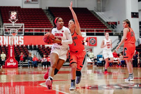 Austin Peay Women's Basketball won an exhibition game Friday night at the Dunn Center against Georgetown College. (APSU Sports Information)