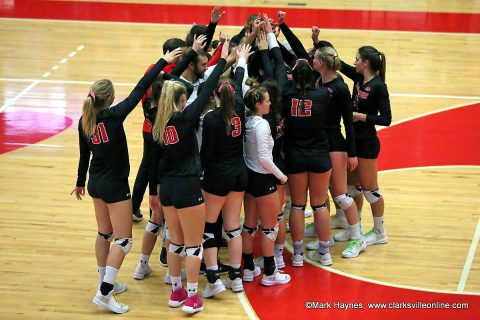 Austin Peay Women's Volleyball assures themselves of a share of the OVC Title with three set win at SIU Edwardsville, Friday. (APSU Sports Information)