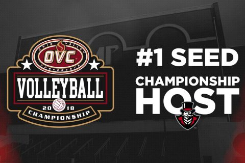 Austin Peay State University to host the 2018 OVC Volleyball Championship at the Dunn Center. Play is set to begin Thursday. (APSU Sports Information)