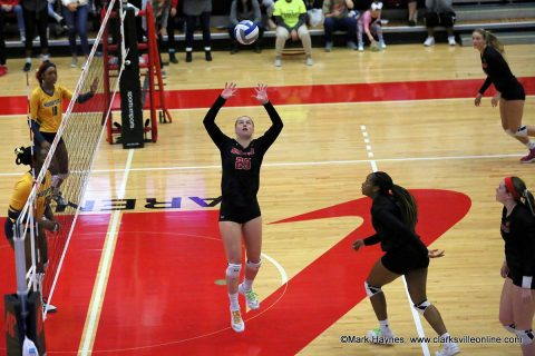 Austin Peay Women's Volleyball loses to Murray set in the OVC Tournament finale Saturday afternoon at the Dunn Center.