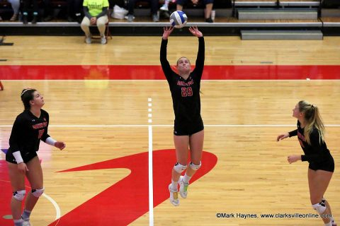 APSU Volleyball's #29 Kristen Stucker ends her career ranked second all-time in program history with 4,704 assist.