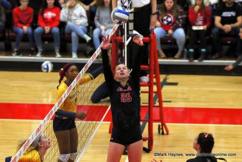 ASPU Volleyball senior setter Kristen Stucker.