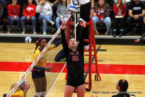 ASPU Volleyball senior setter Kristen Stucker.