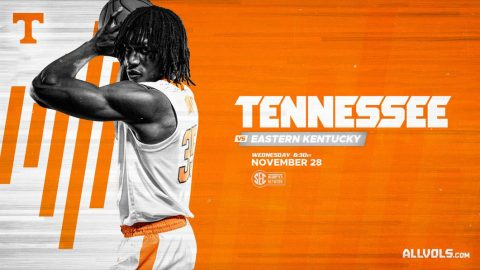 Tennessee Men's Basketball plays Eastern Kentucky at Thompson-Boling Arena, Wednesday. (UT Athletics)