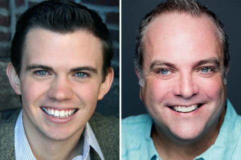 "Ryan Bowie and Brian Best star in ""A Tuna Christmas"" in the Roxy Regional Theatre's theotherspace, December 3rd-December 18th."
