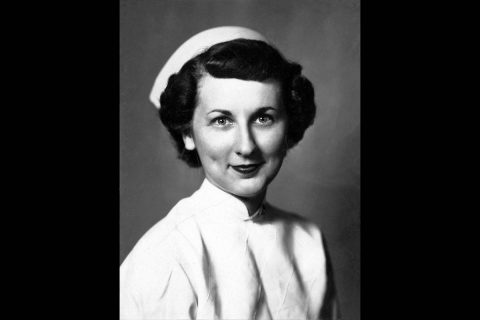 "The late Evelyn McCampbell (""Ms. Jane"") in her nursing uniform. Austin Peay State University's anonymous donor."