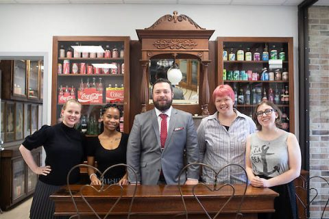 APSU Design Center students Ebony Walton, Alyson Williamson, Al Best, Graham Byrd and Clarissa Gunn tour Coca-Cola Bottling Works of Tullahoma.