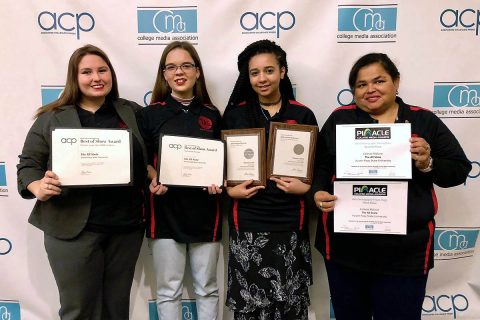 APSU's Courtney McCormick, Maisie Williams, Shania Green and Joann Morales.