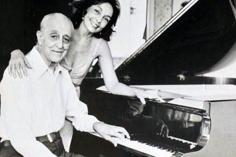 Brazilian composer Francisco Mignone and his daughter