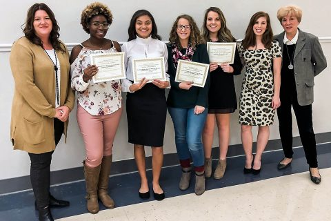 Rossview High School's Culinary students, Kamyia Parks, Bracey Hester, Chanel Johnson, and McKinley Key won first place in the statewide Tennessee Junior Chef competition.